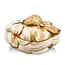 "Шкатулка для украшений ""Цветок"". Италия, ручная работа, Swarovski"