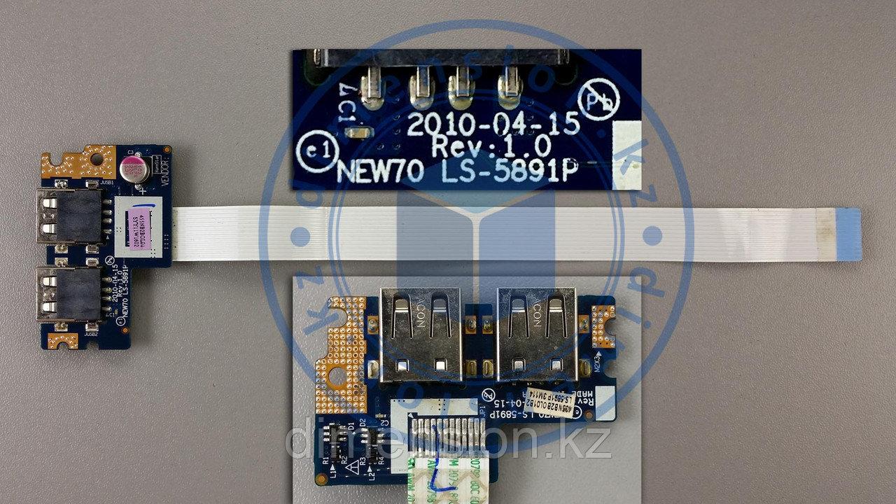 USB плата, разъем, порт LS-5891P Rev. 1.0 ACER Aspire 5741 5741G 5551 5551G 5742 5742G 5552 5552G