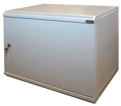 Шкаф настенный МиК 15U, 600*450*760, BASIS, серый, дверь-металл, фото 2