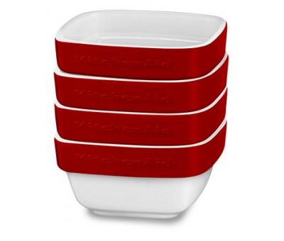 Рамекины, набор керамических чаш для запекания KitchenAid (4шт.)