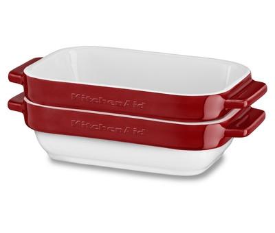 Набор керамических чаш прямоугольных для запекания KitchenAid (2шт.), 0.45л