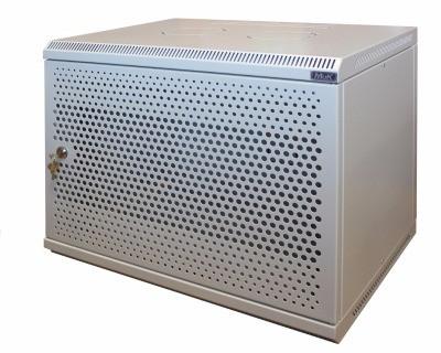 Шкаф настенный МиК 9U, 600*350*500, BASIS, серый, дверь-перфорация