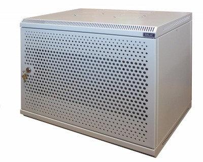 Шкаф настенный МиК 9U, 600*350*500, BASIS, серый, дверь-перфорация, фото 2