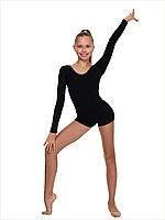 Комбинезон с длинным рукавом шортиками для  гимнастики Соло