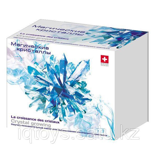 """INTELLECTICO 503 Научно-познавательный набор для опытов """"Магические кристаллы"""", синий"""