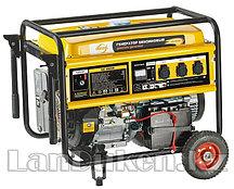 Генератор бензиновый GE 8900E 8,5 кВт 220В/50Гц 25 л электростартер DENZEL 94686 (002)