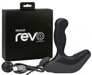 *NEXUS REVO 2 чёрный Вибромассажер простаты с вращающейся головкой