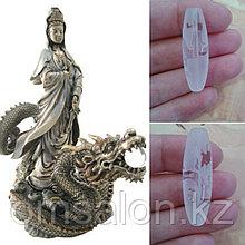 Бусина дзи Богиня Гуань-Инь на драконе