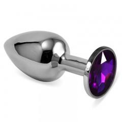 Серебряная пробка с кристаллом(фиолетовый)
