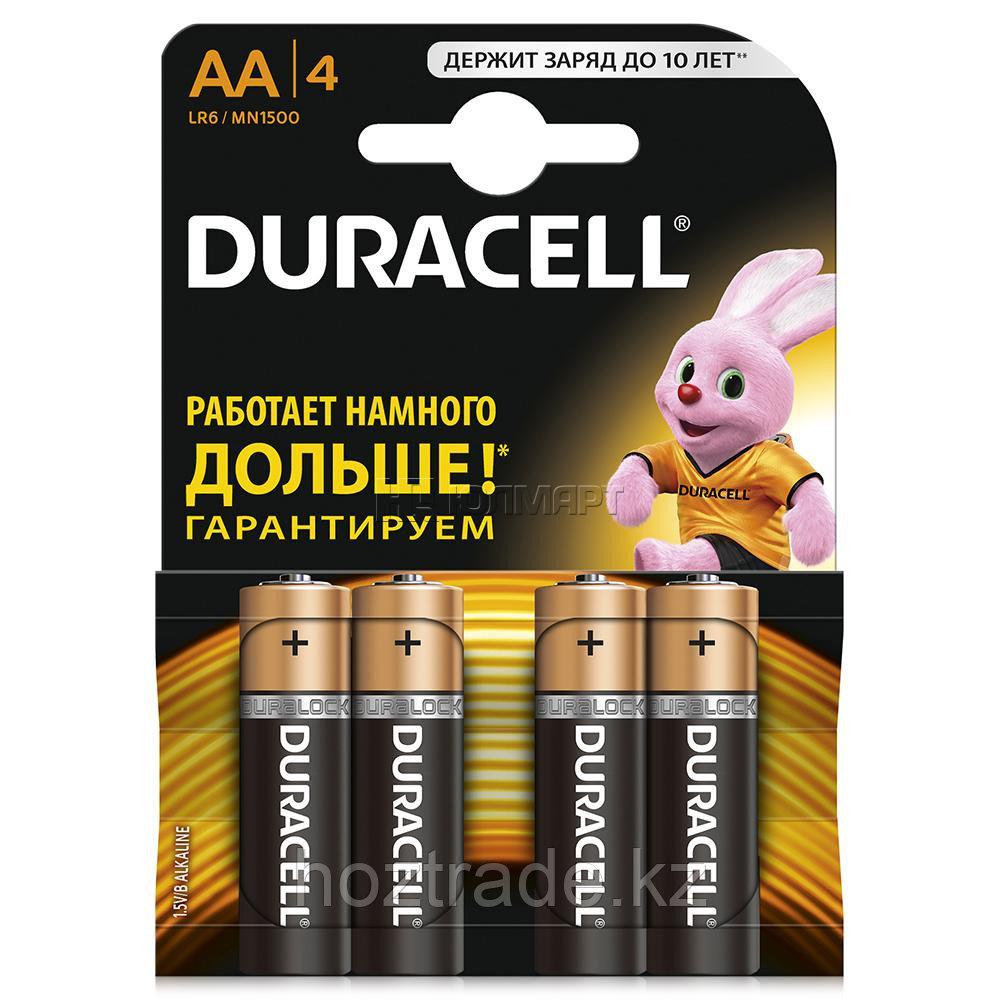 Батарейки  пальчиковые АА Duracell 4шт.