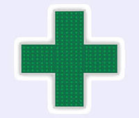 Светодиодный аптечный крест
