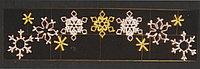 Горизонтальное световое панно Снежинки 105*400 см