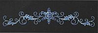 Горизонтальное световое панно Снежинка на ветках 100*400 см