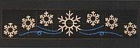 Горизонтальное световое панно Семь снежинок  100*400 см
