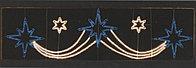 Горизонтальное световое панно 5 звезд  110*400 см