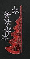 Вертикальное световое панно на опоры Елка красная 200*77 см