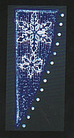 Вертикальное световое панно на опоры Две снежинки 200*80 см
