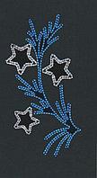 Вертикальное световое панно на опоры Звезды на ветке 150*80 см