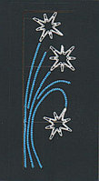 Вертикальное световое панно на опоры Три звезды 150*52 см