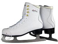 Коньки ледовые Vik Max Pro ярко-белые с мехом р-р 30, фото 1