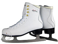 Коньки ледовые Vik Max Pro ярко-белые с мехом р-р 31, фото 1
