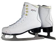 Коньки ледовые Vik Max Pro ярко-белые с мехом р-р 32, фото 1