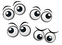 Наклейки глаза для фигур из шаров