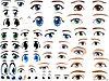 Наклейки глаза разные для фигур из шаров