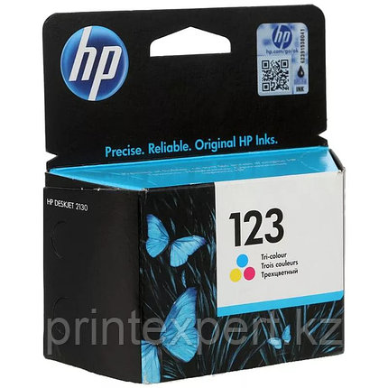HP F6V16AE HP 123 Tri-color Ink Cartridge for MFY DeskJet 2130 up to 100 pages for  МФУ HP DeskJet 2130 All-in, фото 2