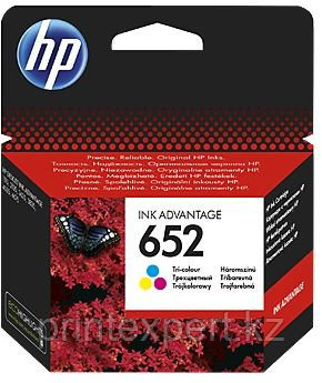 HP F6V24AE HP 652 Tri-color Ink Cartridge for DeskJet IA 1115/2135/3635/3835/4535/4675 up to 200 pages , for D, фото 2