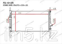 Радиатор  Ford Transit. V347 2006-2014 2.3i Бензин