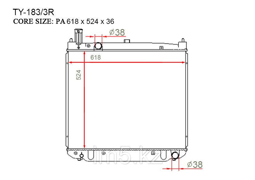 Радиатор  Toyota Hiace. V пок. 2004-2013 2.5D4-D Дизель