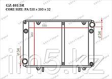 Радиатор  ГАЗ Газель. 3302 2000-2013 2.3i Бензин