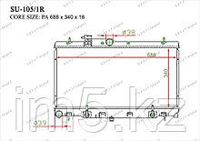 Радиатор  Subaru Legacy. B4 1999-2003 2.0i / 2.5i / 3.0i Бензин