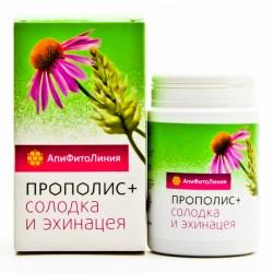 Апифитокомплекс Прополис+Солодка и Эхинацея, при простуд. и инфекц.воспалит.заболеваниях, 60таб