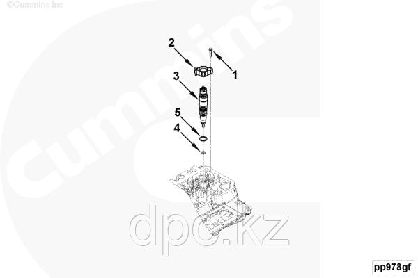 Болт крепления топливной форсунки (M 6x1x30) Cummins ISBe 3900628