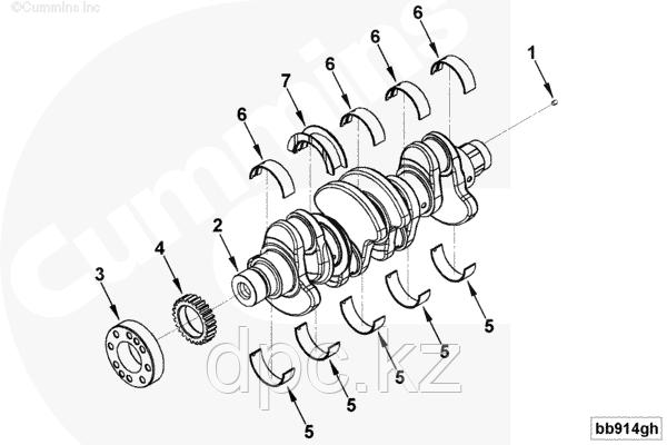 Комплект вкладышей коленчатого вала Cummins ISF 2.8L 4946030 4996250 4946031
