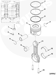 Комплект вкладышей шатунных (нового образца) на двигатель Cummins ISF 2,8 Газель Бизнес, Next
