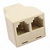 Разветвитель (сплиттер) телефонный 6p4c(F-порт) - 2x 6p4c(F-порт)
