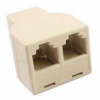 Разветвитель (сплиттер) телефонный 6p4c(F-порт) - 2x 6p4c(F-порт), фото 1