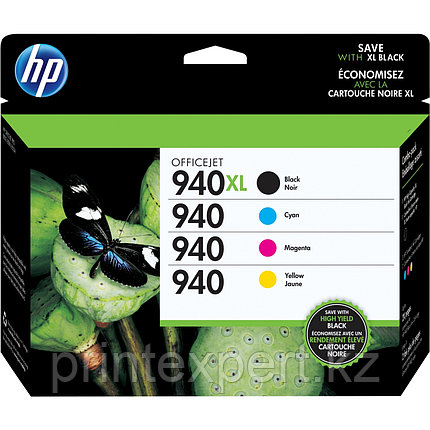 HP C2N93AE Ink Cartridge Combo Pack №940XL for Officejet Pro 8000, up to 1400 (2200) pages.  4-pack High Yield, фото 2