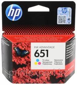 Картридж струйный HP 651 Tri-color