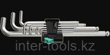 Набор Г-образных ключей, метрических, хромированных 950 PKL/9 SM N