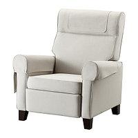 Кресло раскладное МУРЭН Нордвалла бежевый ИКЕА, IKEA , фото 1