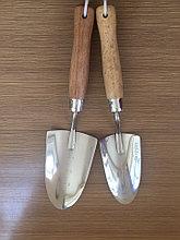 Металлические лопатки для обработки почвы с деревянными ручками 09W04A(широкая),09W04 B(узкая)