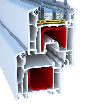 Профиль для производства пластиковых конструкций  Deceuninck Enwin Quadro 60 (Декенинк Энвин Квадро 60)