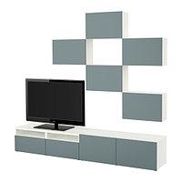 Шкаф для ТВ БЕСТО БЕСТО серо-бирюзовый Астана ИКЕА, IKEA Казахстан, фото 1