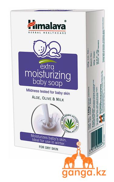 Увлажняющее детское мыло «Алоэ, Оливки и Молоко» - для сухой кожи (Extra moisturizing baby soap HIMALAYA),125г