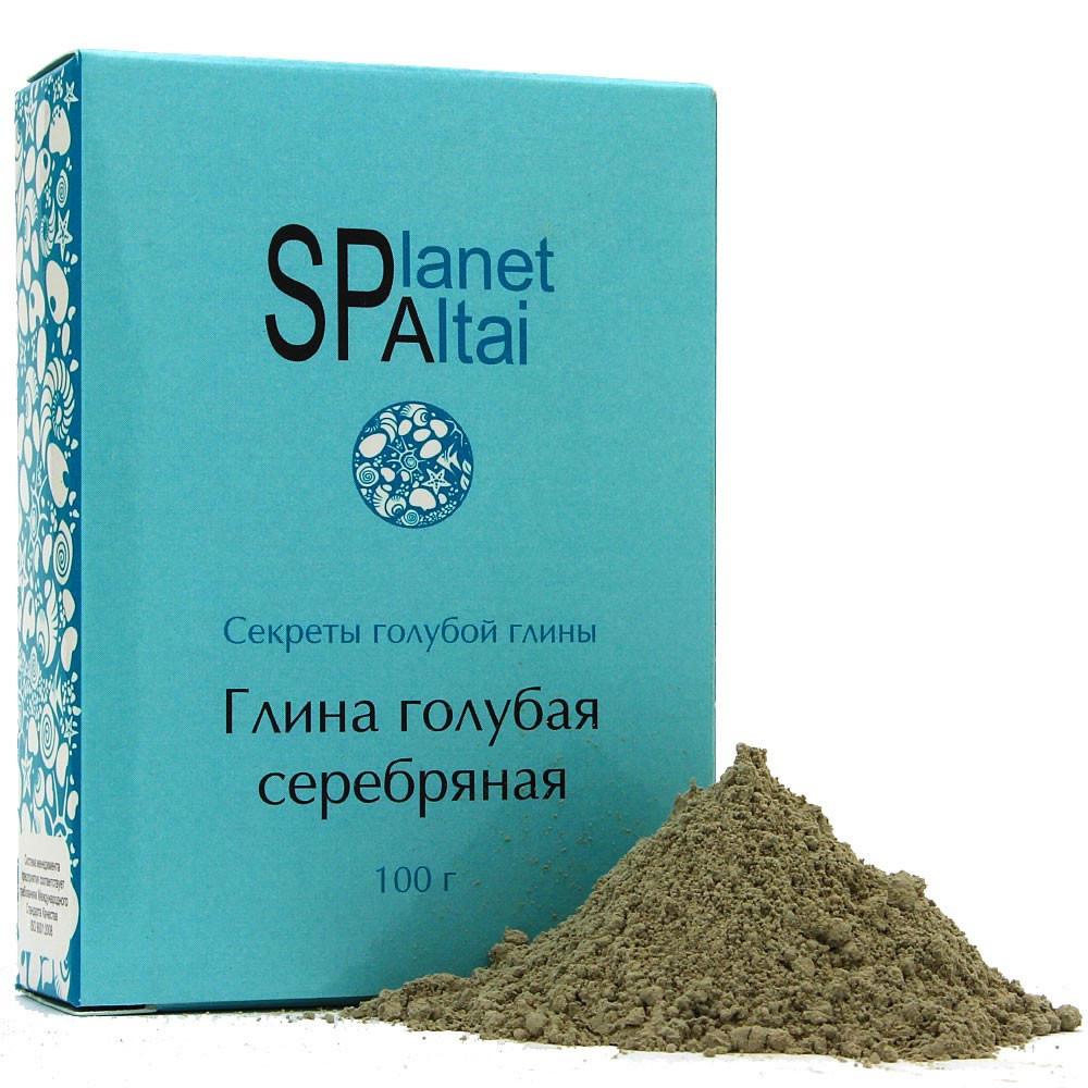 Голубая глина серебряная, 100гр