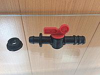 Кран для капельной трубки 16 с сальником, фото 1